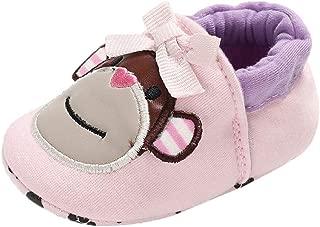 BALABA◕。Baby Girls Boys Soft Booties Cartoon Animal Pattern Floor Shoes Warm Prewalker Shoes Non-Slip Crib Shoes Sneaker