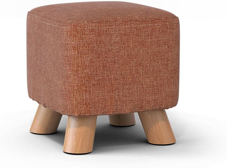 Solid Wood shoes Stool Fashion shoes Stool Creative Stool Fabric Home Stool Sofa Stool Coffee Table Bench Stool ( Design   12 )