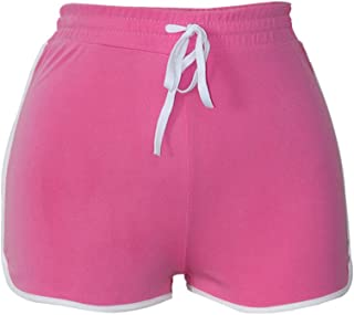 Clearance Sale!FarJing Women High Waist Yoga Pants Bandage Elastic Waist Casual Short Pants