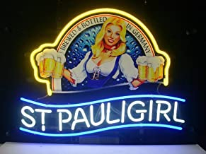 "Queen Sense 14""x10"" St Pauli Girl Neon Sign Light Beer Bar Pub Man Cave Real Glass Lamp DE70"