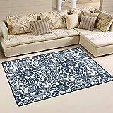 Vector Damasco patrón alfombra grande alfombra de suelo alfombra de yoga alfombra moderna alfombra alfombra de área alfombra de juegos para niños de 4 pies x 5 pies, poliéster, multicolor, 2' x 3'