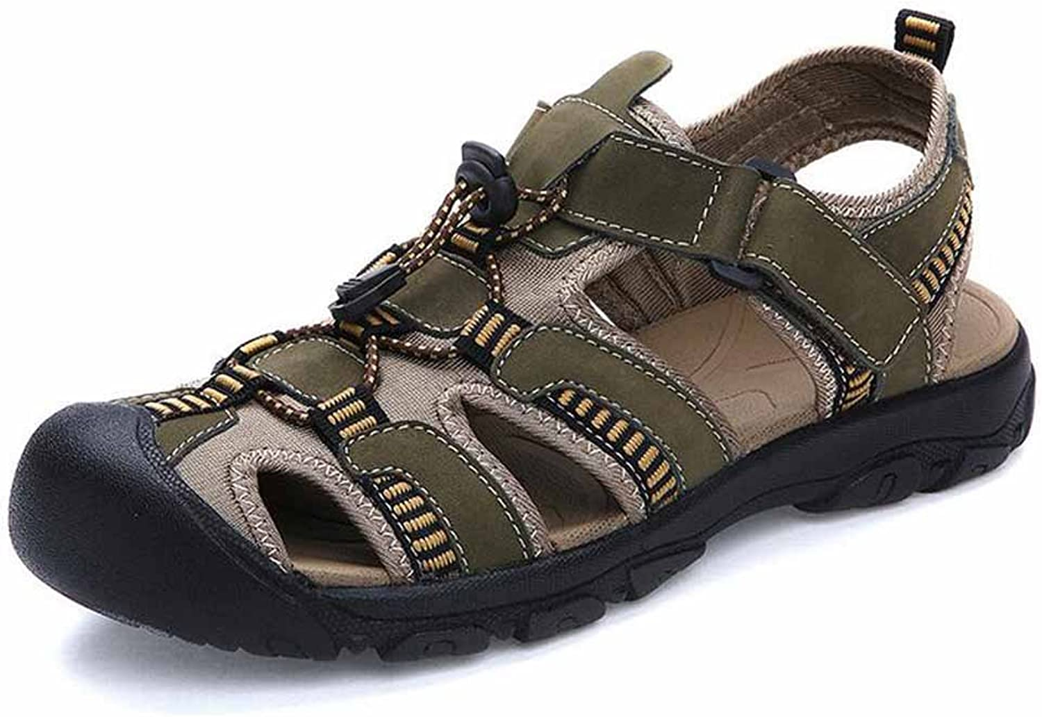 GLSHI Men Lightweight Outdoor Sandals Summer New Closed Toe Comfortable Beach shoes Hiking shoes
