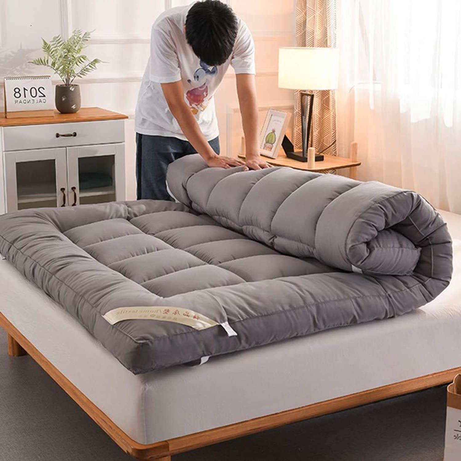 Ultra-Soft Mattress, Fluffy Collapsible Futon Tatami Comfortable Hypoallergenic for Student Bedroom-a 90x200x10cm(35x79x4inch)