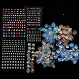 Chunky Body Face Sequins Holographic Cosmetic Glitter Mermaid Sequins Chunky Shells Rhinestones Pearl Assorted Sequin Embellishments