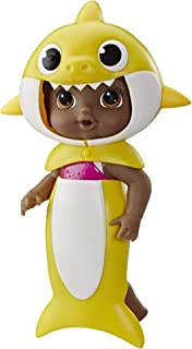 Baby Alive, Baby Shark Black Hair Doll, with Tail &