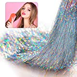 51 Inch 5000 Strands Clip in Hair Tinsel Holographic...
