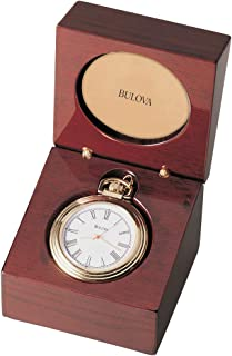Bulova B2662 Ashton Pocket Watch, Gold-Tone Finish/Mahogany Stain Box