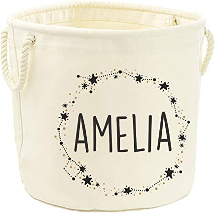 Direct Ltd Personalised Name Star Wreath Canvas Toy Storage Tub  40x60cm