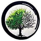Zen from Birth to Death Buddhism Patch Embroidered Applique Iron On Sew On Emblem