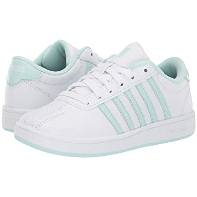 K-Swiss Classic Pro (Little Kid) (White/Soothing Sea) Shoes
