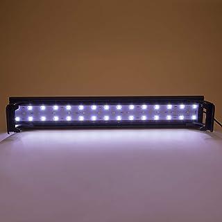 Hygger Full Spectrum Aquarium Light with Aluminum Alloy Shell Extendable Brackets, White Blue Red LEDs, External Controlle...