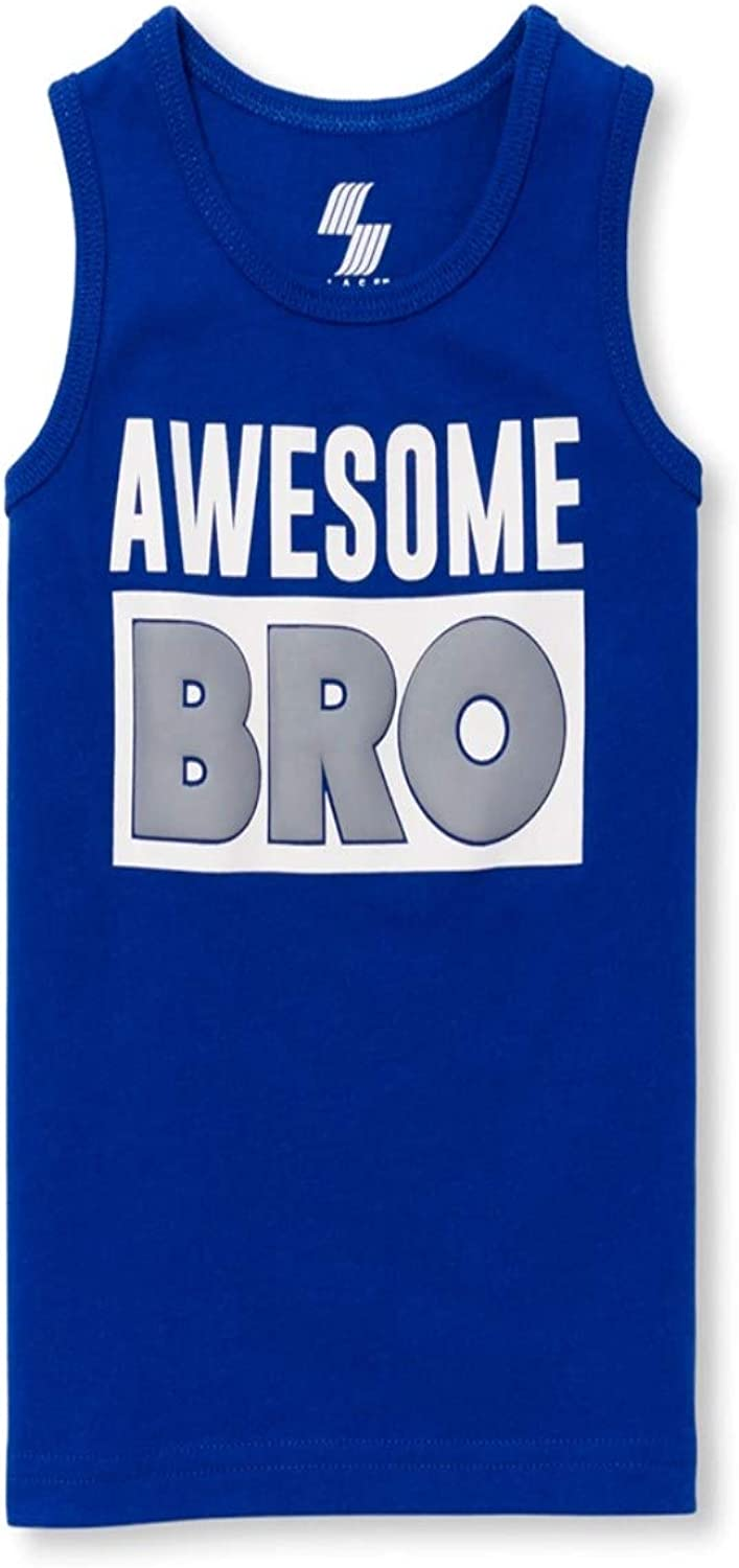 The Children's Place Baby and Toddler Boys Matchables Graphic Tank Top