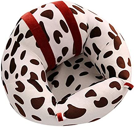 KANGJIABAOBAO Learning Sit The Sofa Toldder Infant Learn Sitting Sofa Chair Pillow Baby Safety Sofa Support Seat Cushion Cow Pattern Baby Plush Newborn Couch Bed Furniture Baby Seat