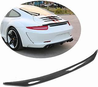 MCARCAR KIT Trunk Spoiler fits Porsche 911 991 996 2012 2013 2014 2015 Factory Outlet Carbon Fiber CF Rear Boot Lid Highkick Wing Lip