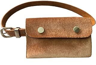 Fashion PU Leather Fanny Pack Mini Waist Cellphone Wallet Bag Belt Purse (Brown)