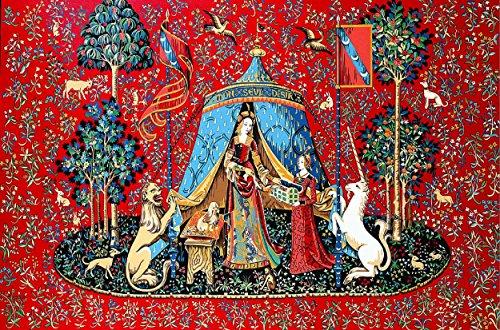 """Margot De Paris Tapiz//lienzo bordado dama del unicornio /""""la vue/"""""""