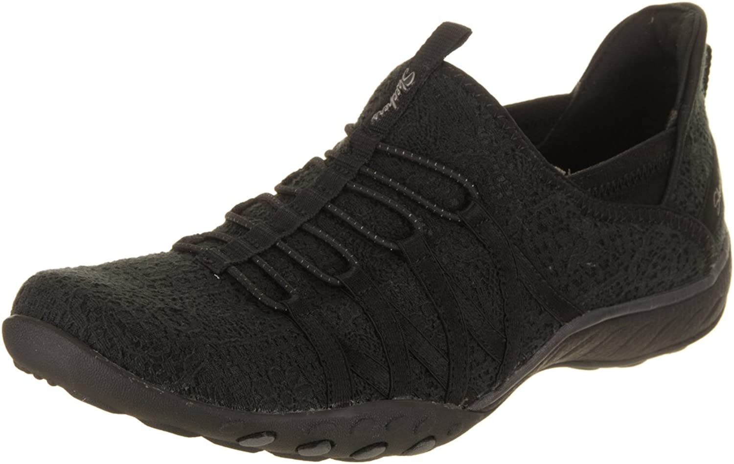 Skechers Relaxed Fit Breathe Easy Harmonia Womens Slip On Bungee Sneakers