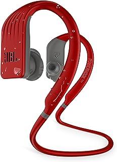 JBL Endurance Jump - Auriculares inalámbricos Bluetooth Deportivos con micrófono, Impermeable, hasta 8 Horas de batería, Funda de Carga y Carga rápida, Funciona con Android y Apple iOS (Rojo)