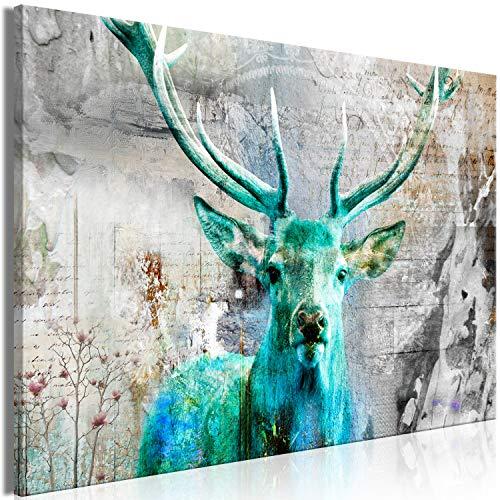 murando Cuadro Mega XXXL Ciervo 165x110 cm Cuadro en Lienzo en Tamano XXL Estampado Grande Gigante Imagen para Montar por uno Mismo Decoración De Pared Impresión DIY Animales Vintage g-C-0060-ak-c