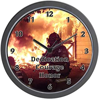 CafePress-Firefighter T Shirts and Gift-Wall Clock