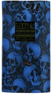 Skull Blue/Smok Alien 220W Matte Silicone Case Protective Gel Cover Sleeve Wrap Shield
