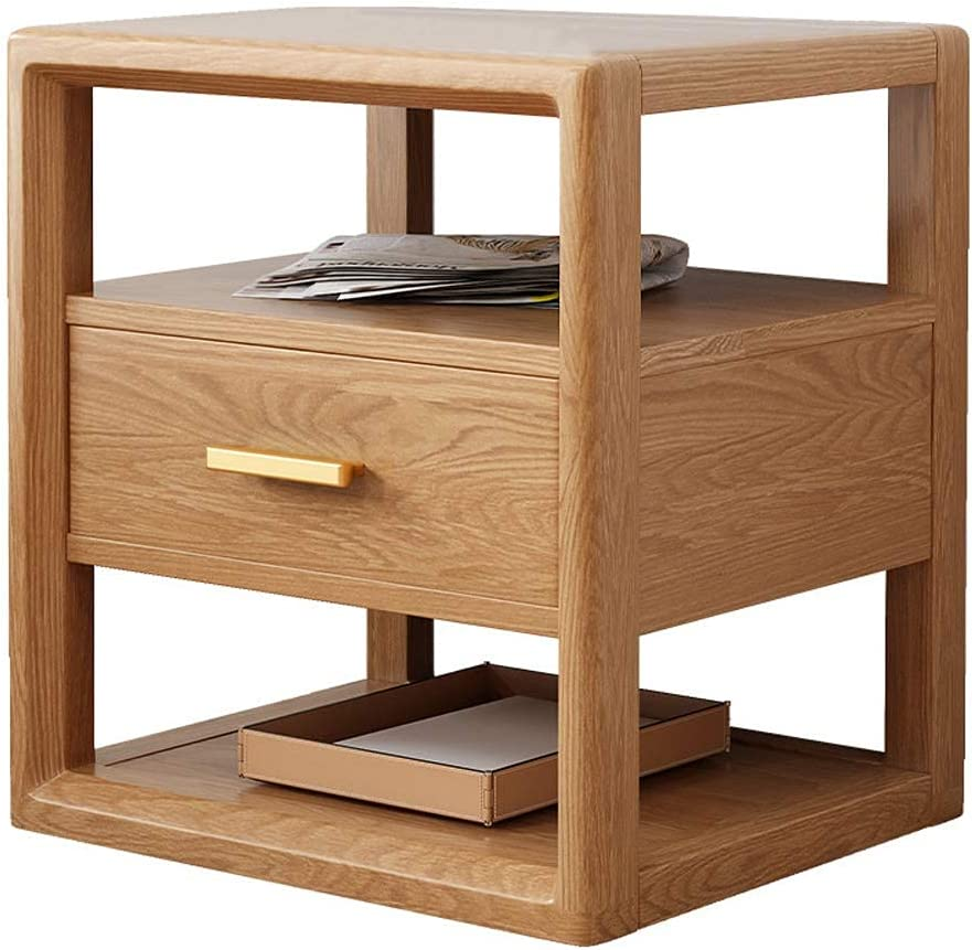 Sofa Side Table Solid Wood 3-Tier Nightstand 1 year warranty Wooden Max 40% OFF Accent