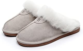 UGG Slippers-Australia Premium Sheepskin, Anti-Slip Fluffy Fur Indoor/Outdoor Slippers, Super Warm and Comfort