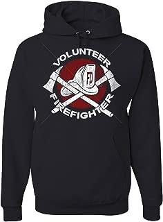 Volunteer Firefighter Hoodie Helmet Fire Rescue Hero Sweatshirt