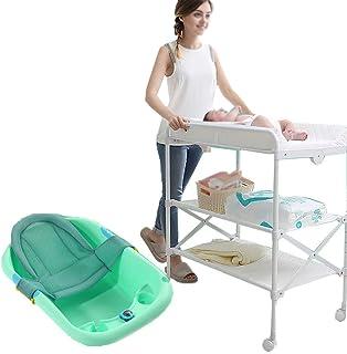 ベビーおむつテーブル ポータブルベビーチェンジングテーブル折り畳み式おむつテーブル多機能ベビーケア新生児バスマッサージ手術ベビータッチ、グリーン