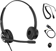 $56 » Polycom Phone Headset Noise Cancelling Mic RJ9 U10P Bottom Cable Compatible with Polycom VVX, Shoretel, Avaya Digital Phones