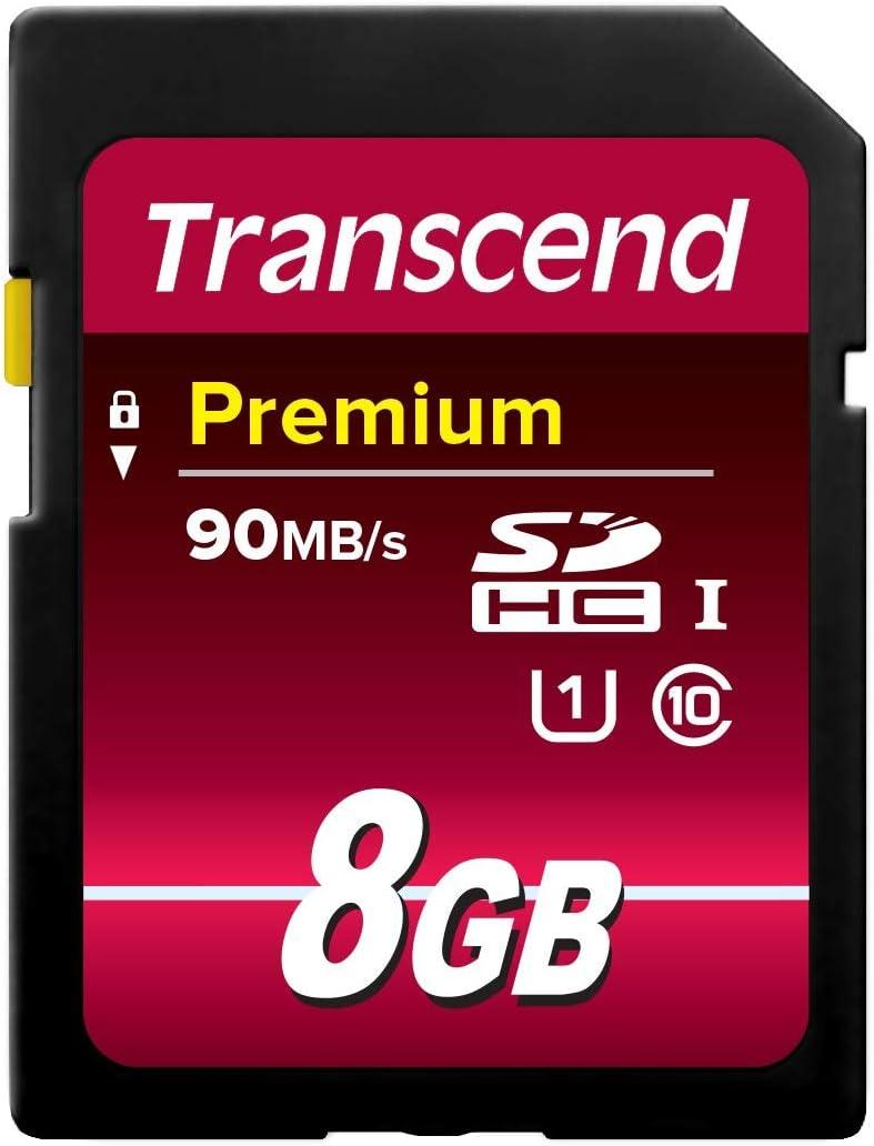 Transcend 8 GB High Speed 10 UHS Flash Memory Card (TS8GSDU1)