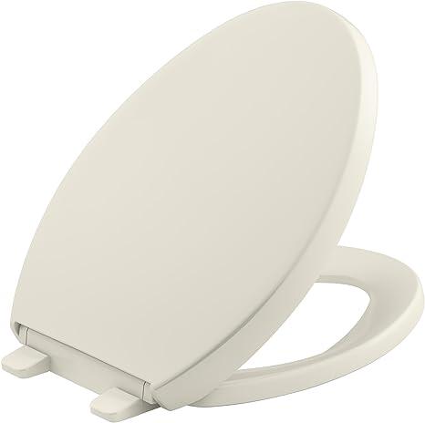 Kohler K 4009 0 Reveal Quiet Close With Grip Tight Bumpers Round Front Toilet Seat White Quiet Close Toilet Round Seat Kohler Amazon Com