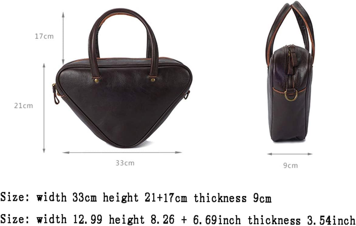 Sac à Bandoulière pour Femme,Sac à Bandoulière en Cuir Vintage Tote Geometry Black