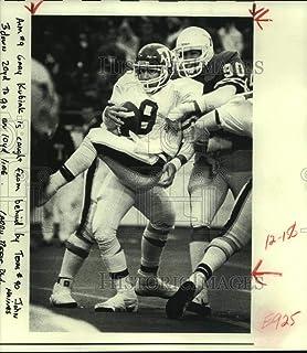 1083d177333 Vintage Photos 1982 Press Photo Texas A M Quarterback Gary Kubiak sacked  Texas  John ...