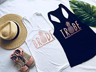 Bachelorette Party Shirts for Bridal Party - Bride Tribe Bachelorette Party Tank Tops, Pineapple Bride Shirt, Bachelorette Tanks, Bridal Party Shirts