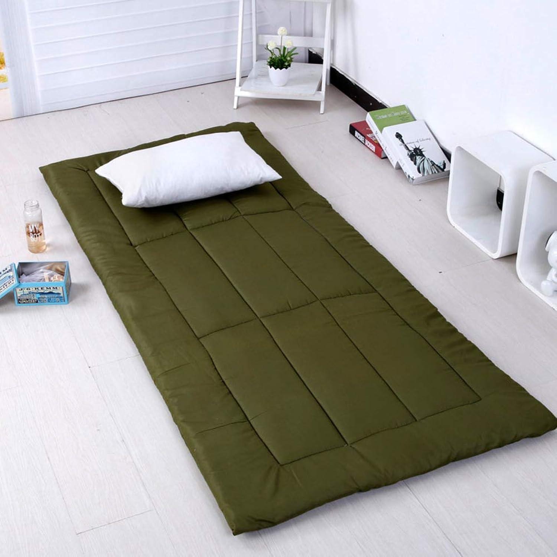 Soft Japanese Sleeping Pad,Twin Foldable Futon Mattress Tatami Student Dormitory Single Bed roll-ArmyGreen Twin 90×200cm
