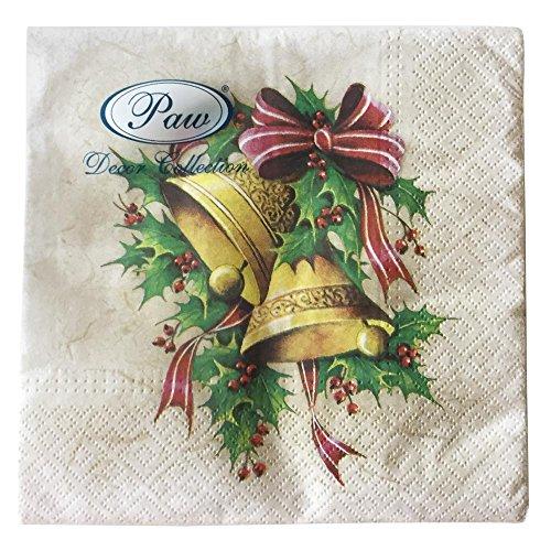 PAW servetten 33x33 cm 20 st. Christmas BellS 5906360735475