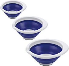 Progressive International Collpsible Mixing Bowls, Blue, Set of 3