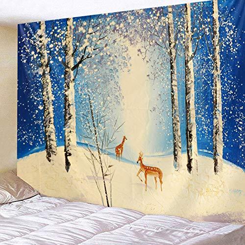 KHKJ Diseño Creativo Tapiz Mural decoración del hogar Hermoso Paisaje impresión Pared Personalidad Arte Tapiz A3 200x180cm