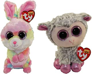 TY 2018 Set Of 2 EASTER BEANIE BOOS - LOLLIPOP & DIXIE - Each 6