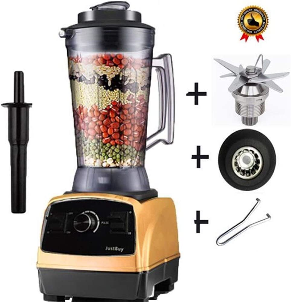 Yongyu Chenzinan Procesador 4L Heavy Duty Comercial Batidora 2800W Professional Power Mixer Blender Exprimidor de Alimentos Japón Cuchilla (Color : Gold Jar) Gold Jar