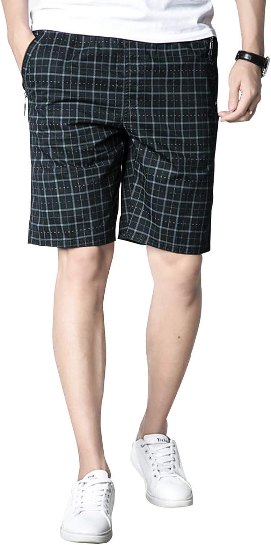 SayahMen Lapel 100/% Cotton Casual Plaid Pockets Button Tees Top Shirts