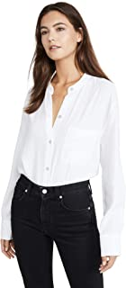 Vince Women's Relaxed Band Collar Blouse