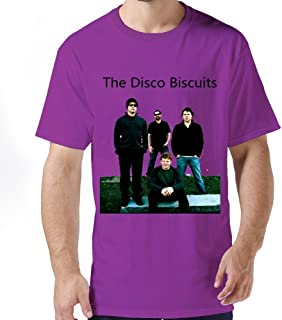 Soulya Men's The Disco Biscuits T-Shirt Size US White