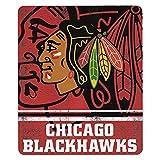 Chicago Blackhawks 50x60 Fade Away Fleece Throw