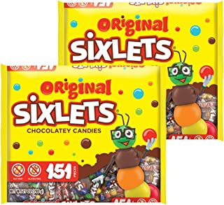 Sweetworks Original Sixlets 151 Count Laydown Bag - 27 ounces - Pack of 2