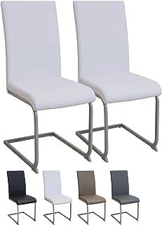 Albatros Silla Cantilever Murano Set de 2 sillas Blanco, SGS Probado