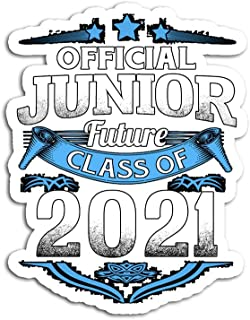 Hand Wooden Customizable Sticker Official Junior Future Class of 2021 Funny First Day Stickers for Personalize (3 pcs/Pack)