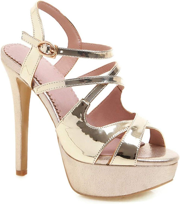 Fairy music Big Size 34-43 Summer Sandals Women peep Toe Ladies Prom Dress shoes Platform Super high Heels shoes