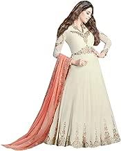 Beautiful Designer Cut work Dupatta Anarkali suit Heavy Embroidery Wedding Ceremony Indian Muslim Ethnic White 7269